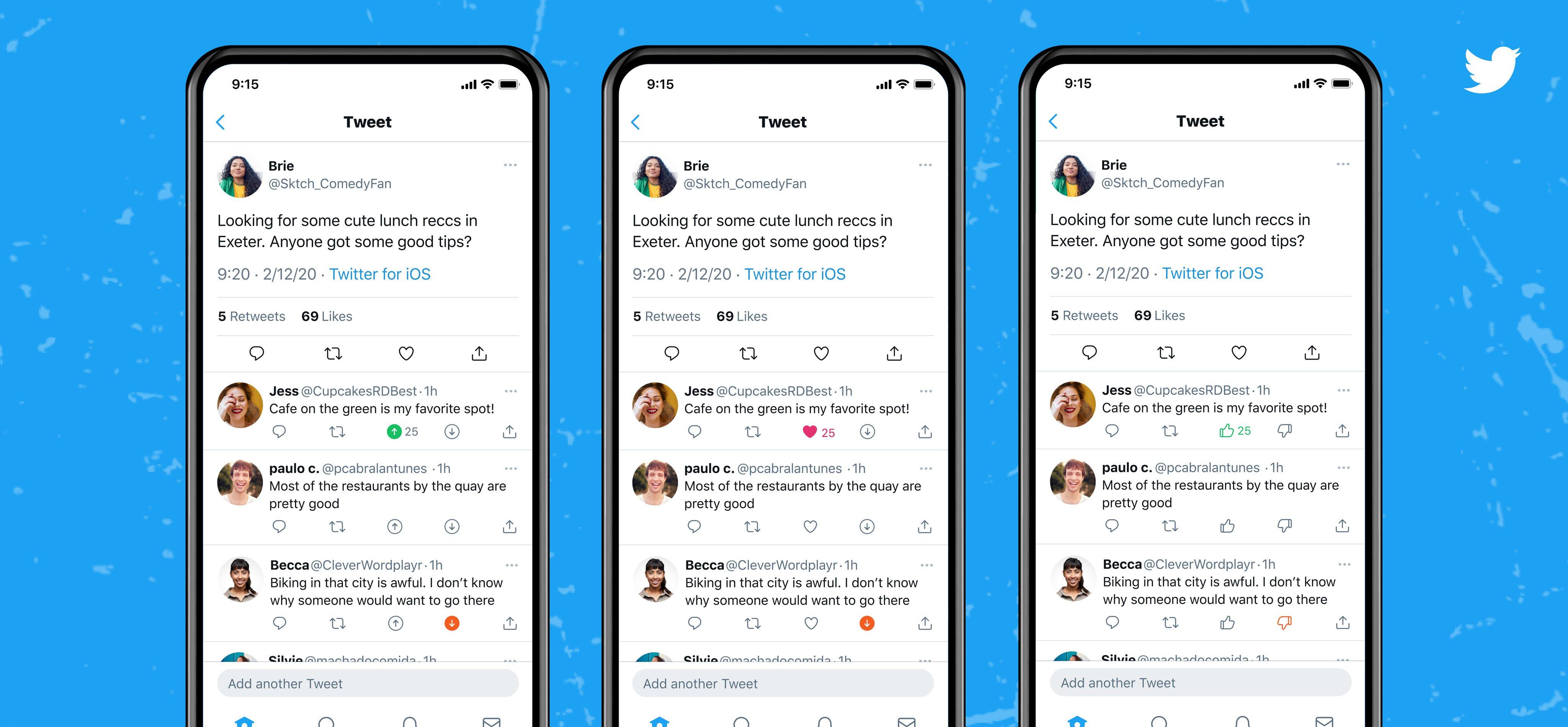 Twitter prueba botón opuesto al 'me gusta'