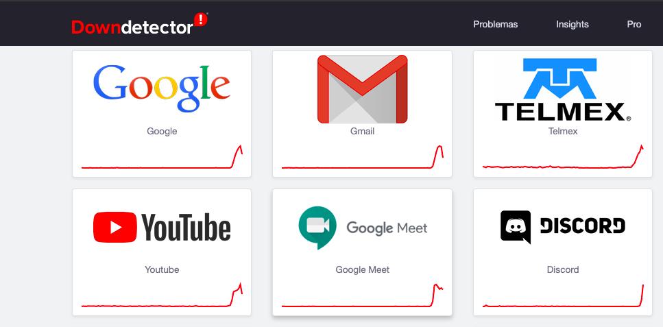 Gmail, YouTube, Telmex y Spotify restablecen su servicio, después de fallas