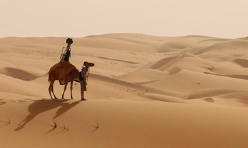Google usó un camello para limitar el impacto sobre el medio ambiente.