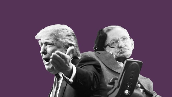 El físico dijo que no podía explicar el ascenso de Trump en la política.