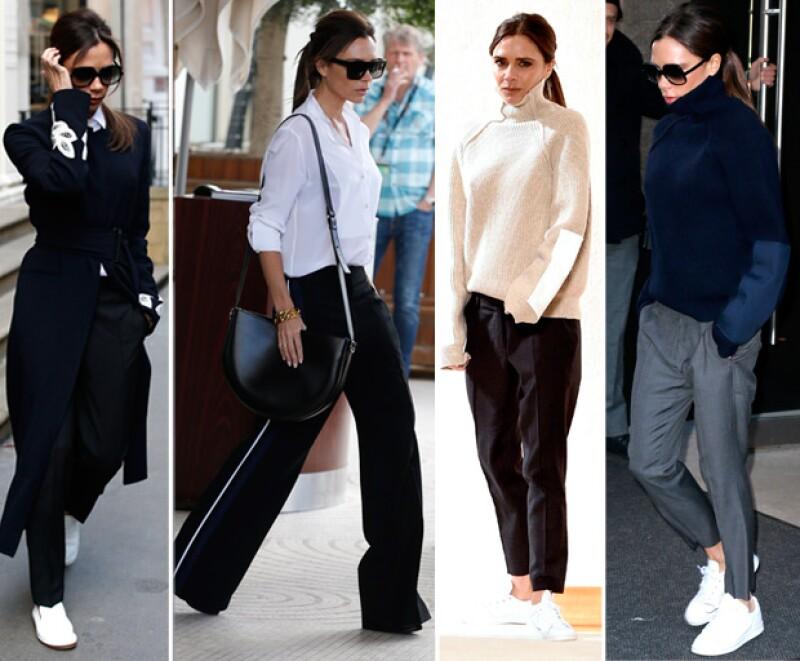 Esta no es la primera vez que Victoria nos sorprende, pues hace unos meses, dejó de usar sus tan amadas zapatillas.