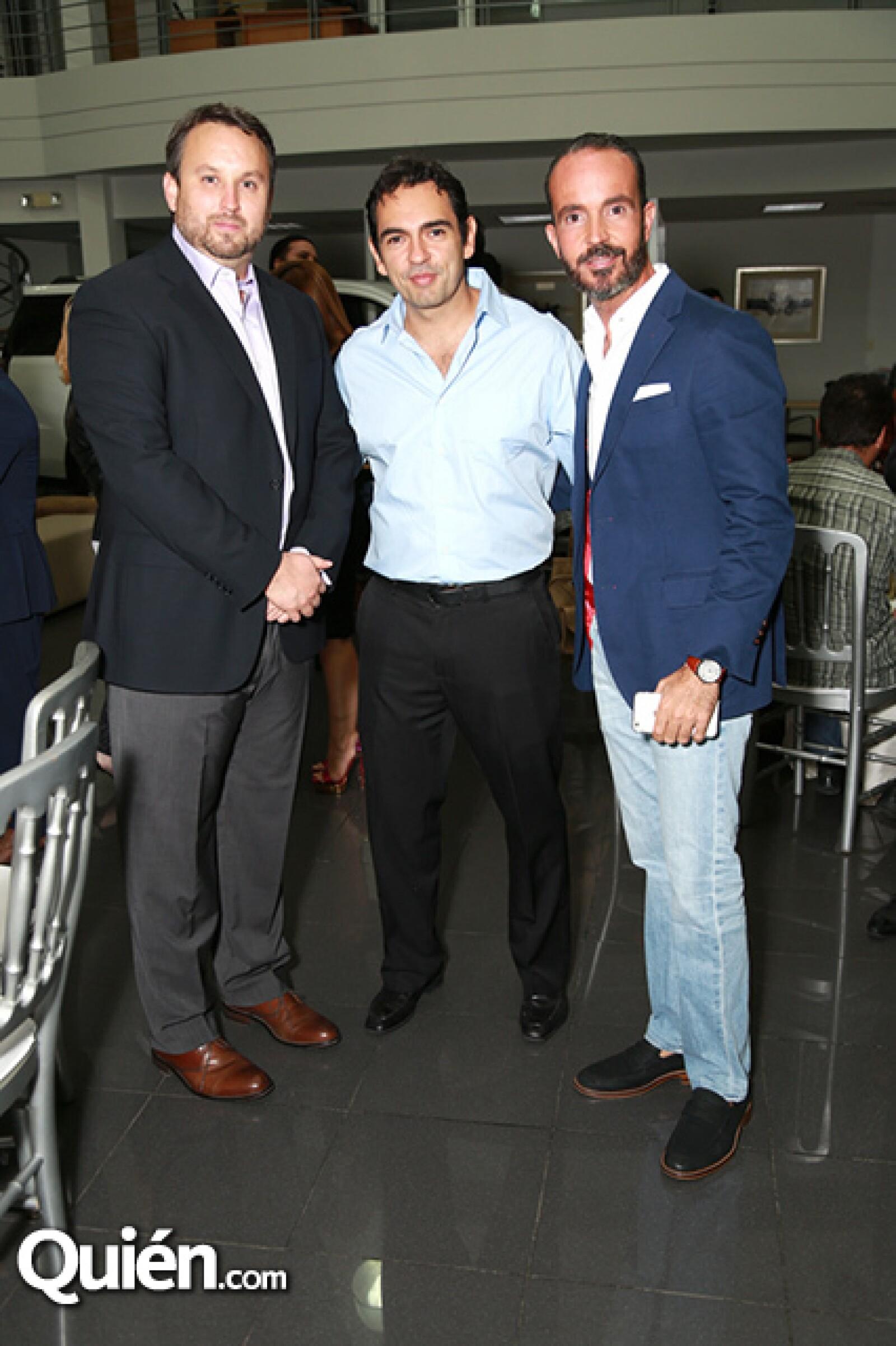 Carlos Rivero,Gustavo García Rendón y Rafael Alanis