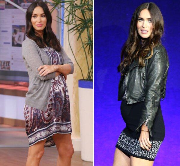 Megan se ha inclinado por vestidos súper cortos y cárdigans.