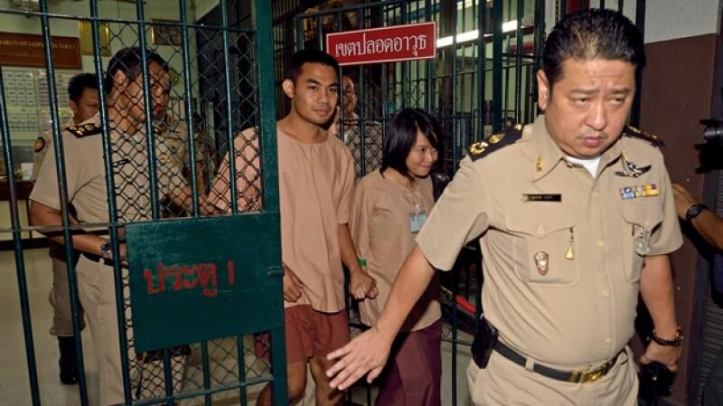 jovenes tailandeses presos