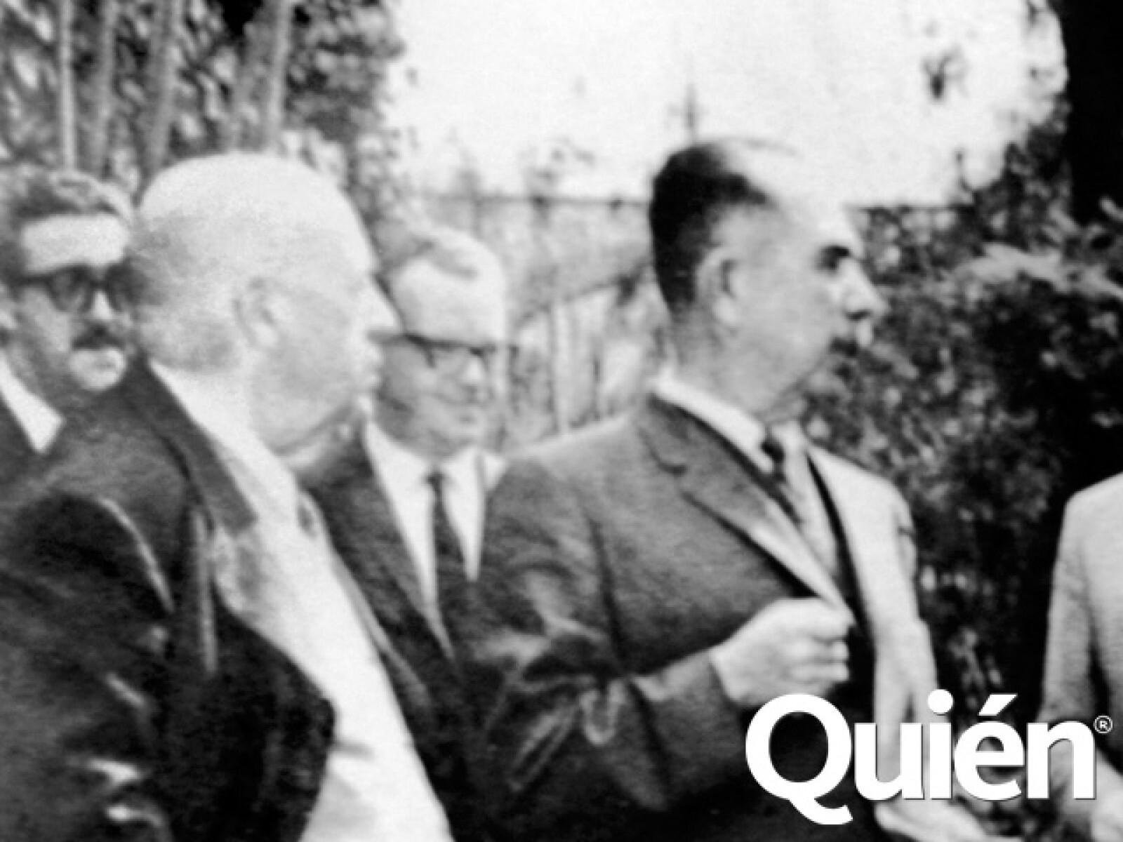 Con el expresidente Lazaro Cárdenas.