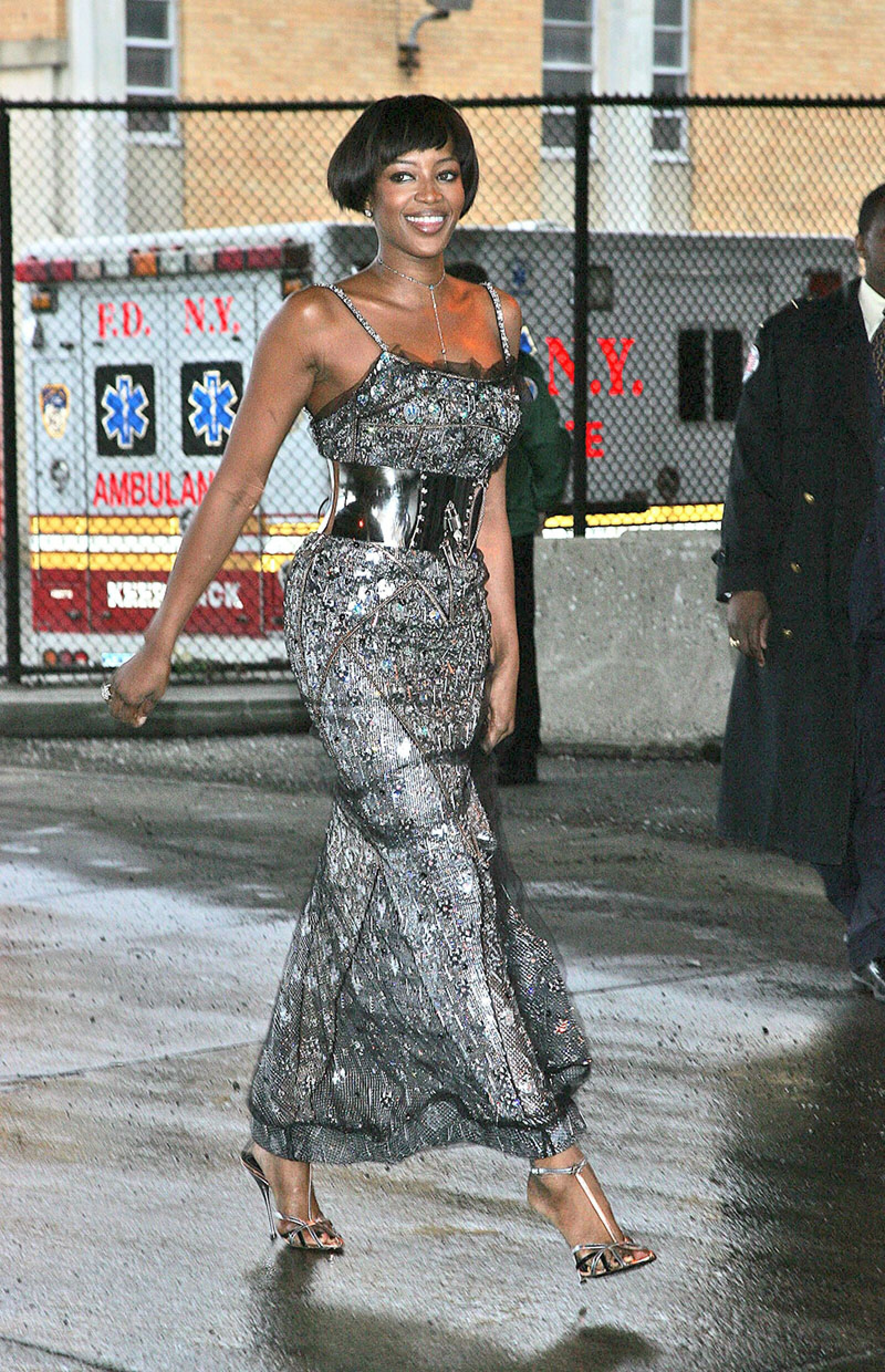 Naomi Campbell leaving after the fifth and final day of community service at the New York Sanitation Department, New York, America - 23 Mar 2007