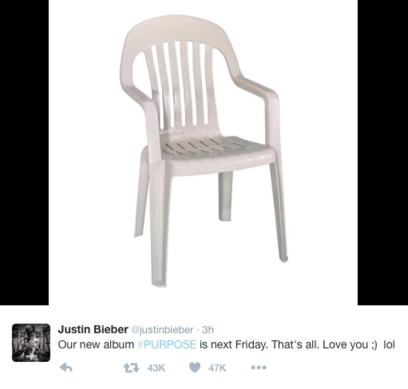 El cantante tomó a manera de broma lo sucedido y así promocionó su nuevo álbum.