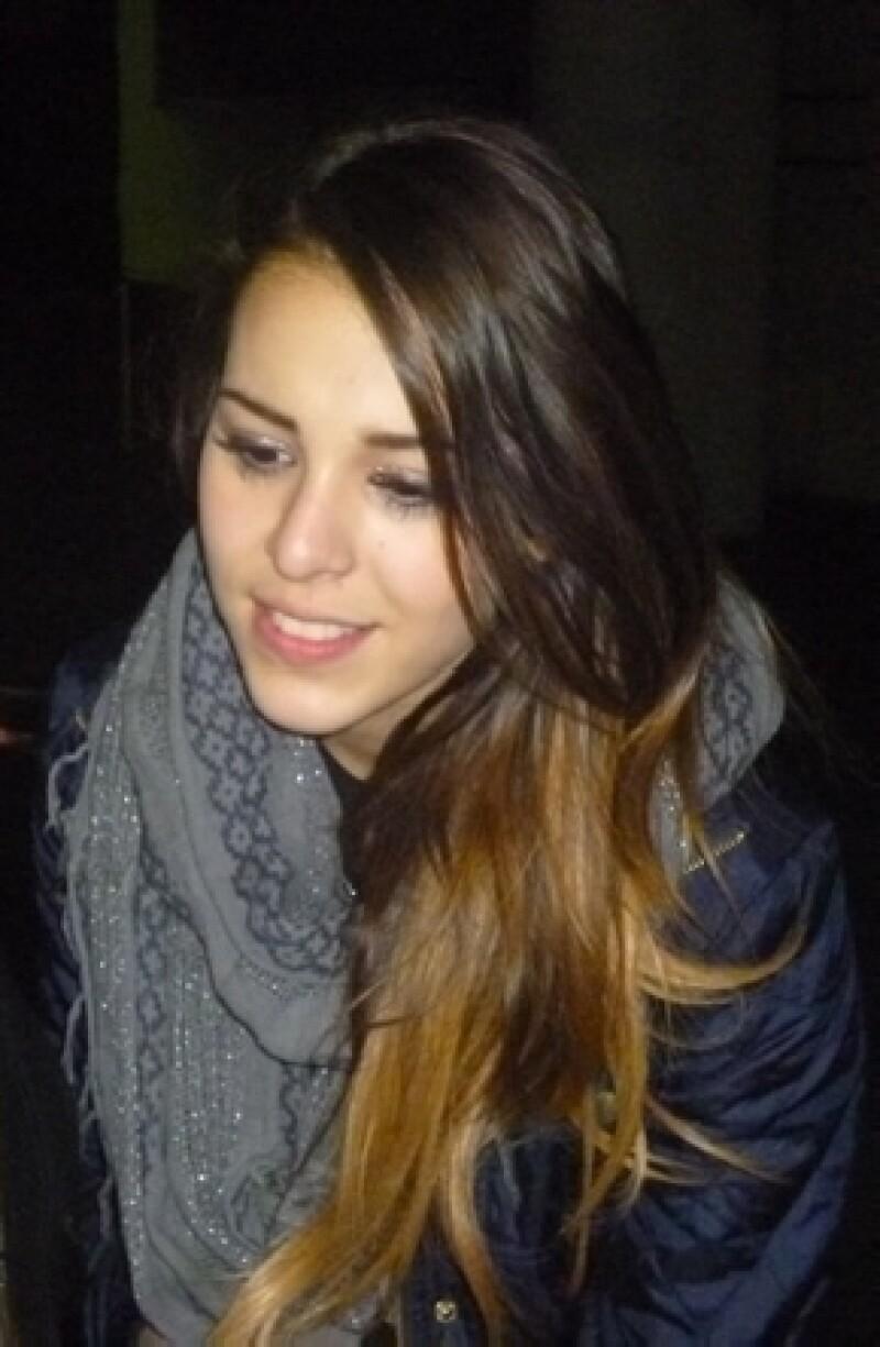 Antes del comienzo de la nueva temporada del musical, la joven actriz se dio tiempo para visitar a Eleazar Gómez y el resto del elenco.