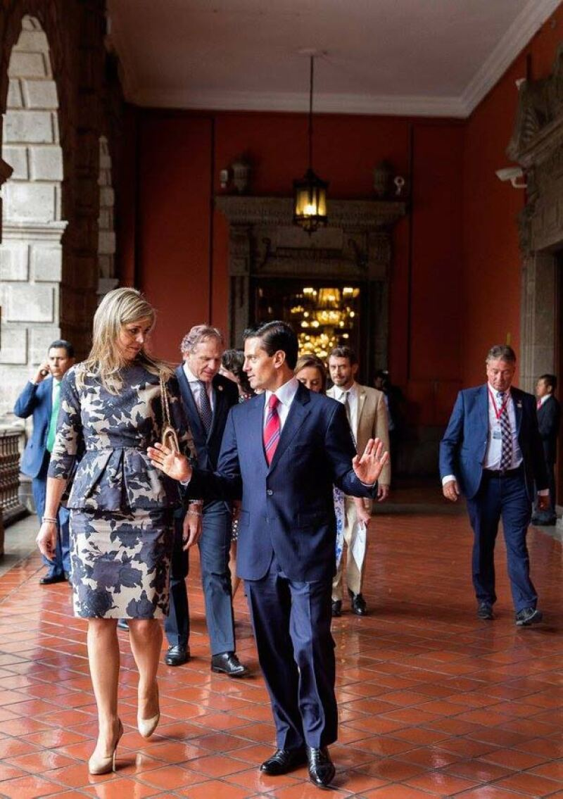 Posteriormente dio un recorrido por Palacio Nacional.