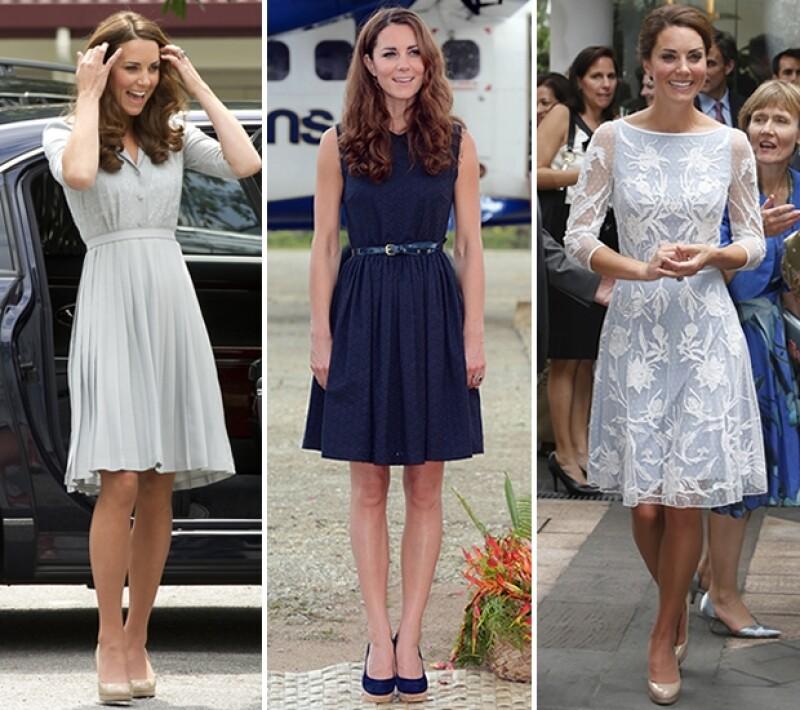 Kate usó atuendos de diseñadores como Jenny Packham, Mulberry y Alice Temperley.