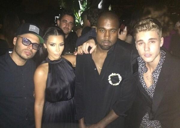 Kim y Kanye coincidieron con el canadiense en Ibiza.