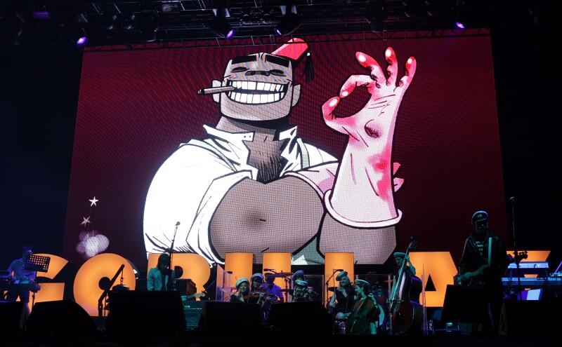 Gorillaz adelanta su nuevo álbum en un concierto en Tokyo