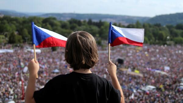 Protestas en República Checa