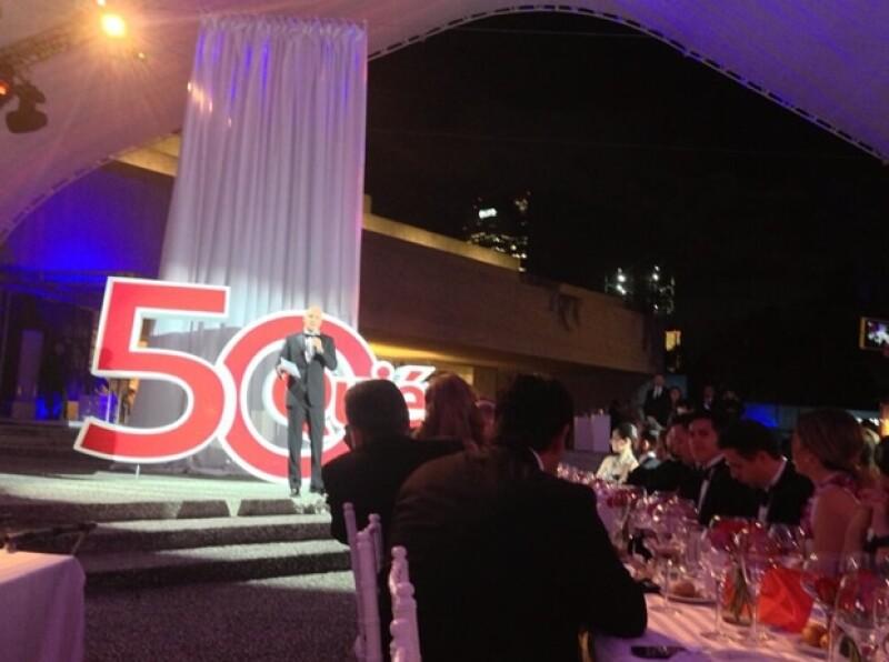 Manuel Rivera, CEO de Grupo Expansión, dio la bienvenida a todos los invitados con un discurso en el que resaltó la labor de los reconocidos.