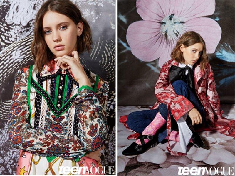 Iris Law tiene 15 años y así posó para Teen Vogue.