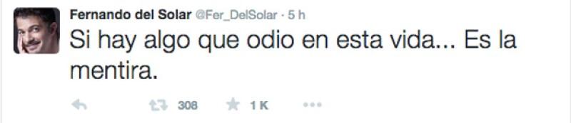 Fernando únicamente escribió un tuit aparentemente relacionado con lo que sucedió en Venga la Alegría.