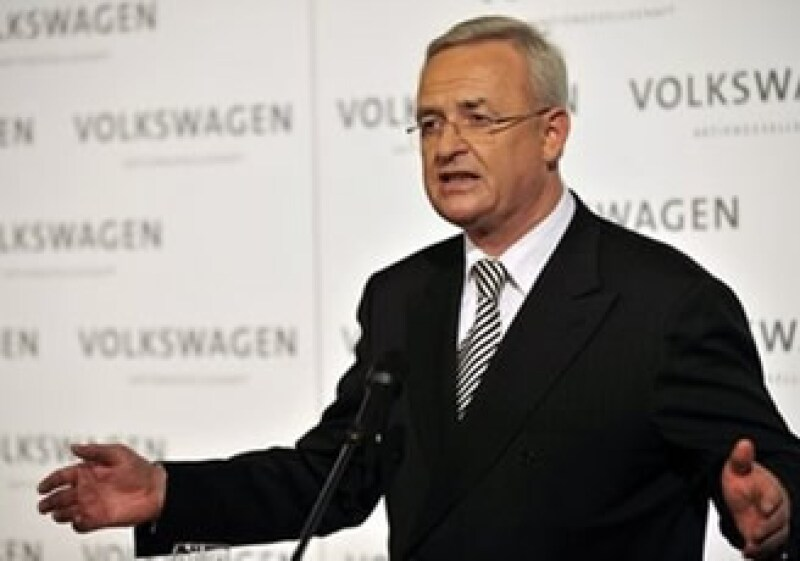 Martin Winterkorn, presidente de VW, confió en que la empresa será el líder mundial del mercado automotriz. (Foto: AP)