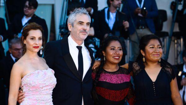 Marina de Tavira, Alfonso Cuarón, Yalitza Aparicio and Nancy García