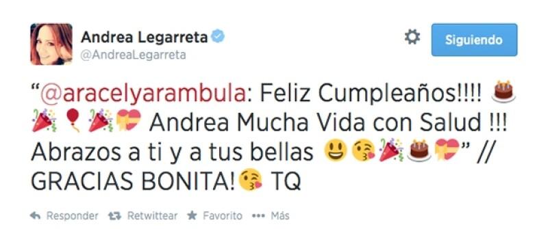 Aracely Arámbula le deseó mucha salud en este día especial.