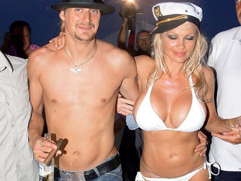 Pamela Anderson en su boda.