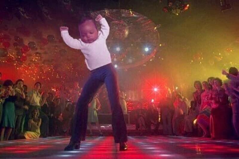 En la pista de baile.