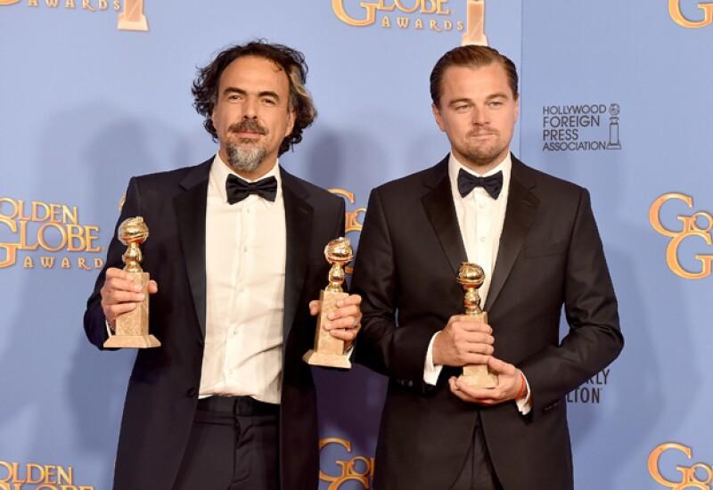 El director y el actor Leonardo DiCaprio se alzaron como triunfadores en la pasada entrega de los Golden Globes con The Revenant.