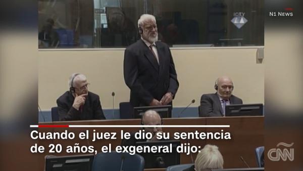 Criminal de guerra de Bosnia se envenena tras escuchar su veredicto