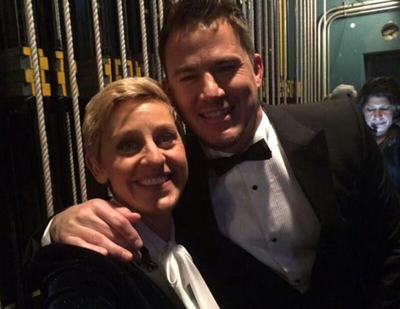 Ellen DeGeneres y Channing Tatum