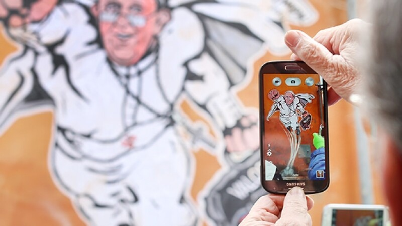 papa francisco smartphone Getty