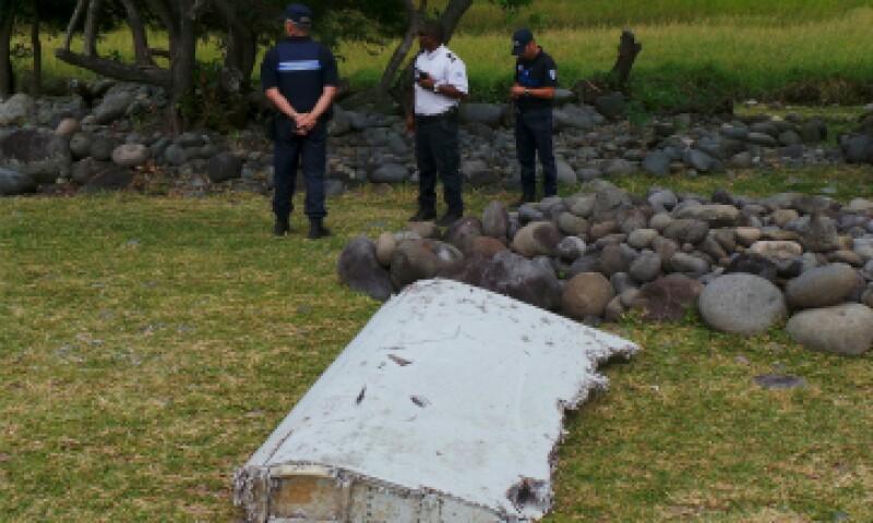 En septiembre, autoridades francesas confirmaron que la parte del avión era del vuelo desaparecido. (Foto: Reuters)