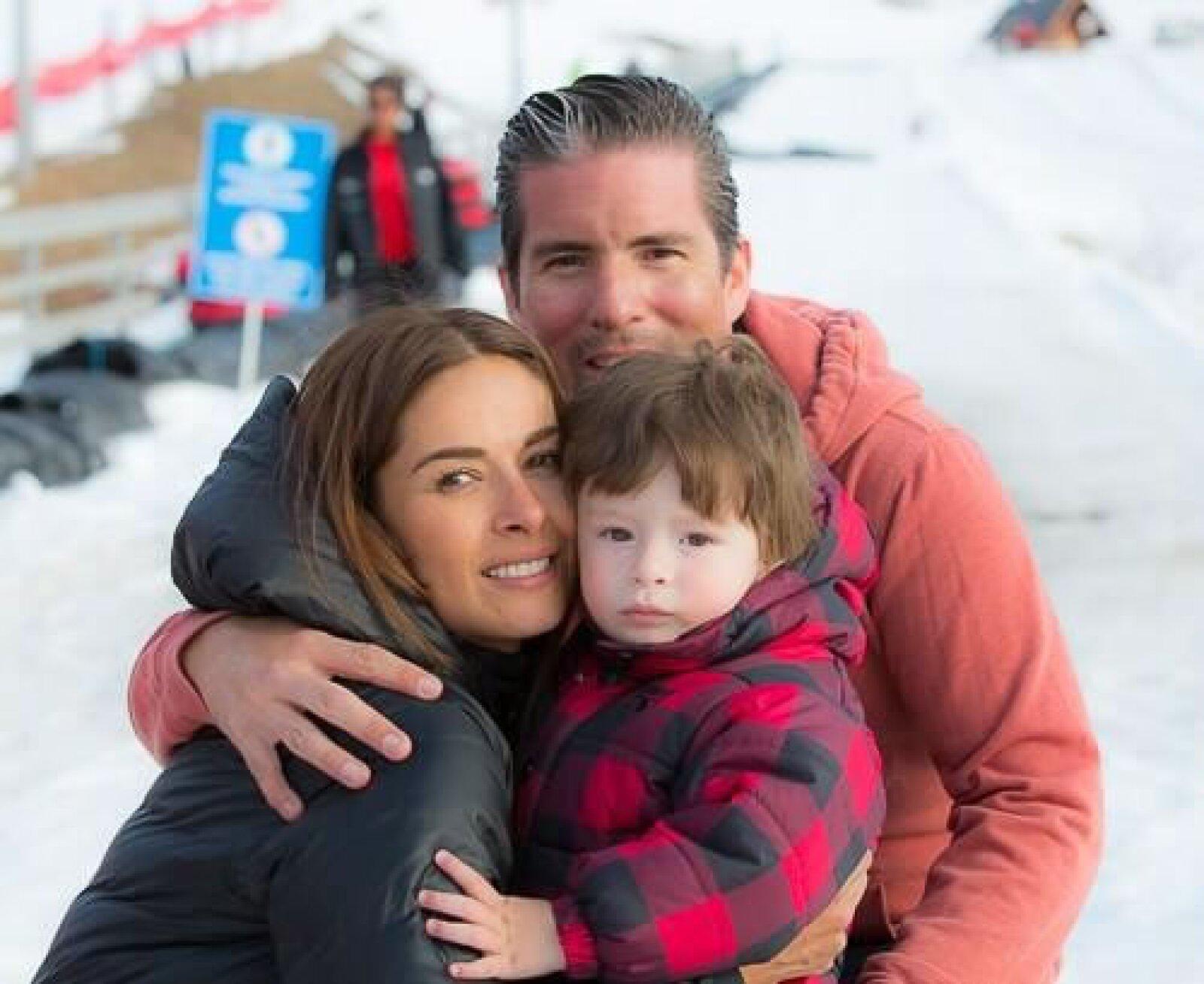 Galilea, Fernando y Mateo se fueron de paseo a la nieve.