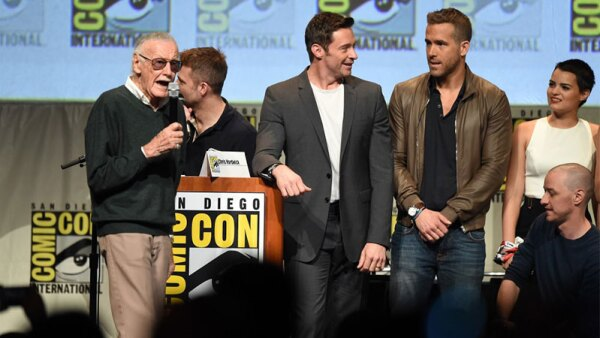 Hugh Jackman y Stan Lee