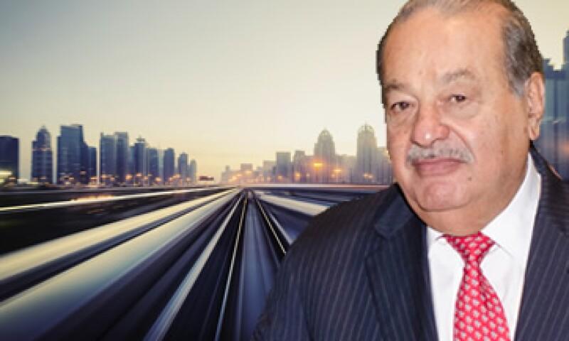 Carlos Slim tiene una participación en el negocio ferroviario en México de Grupo México.  (ESPECIAL)