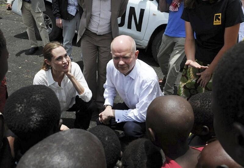 Angelina es parte de los voluntarios de las Naciones Unidas.