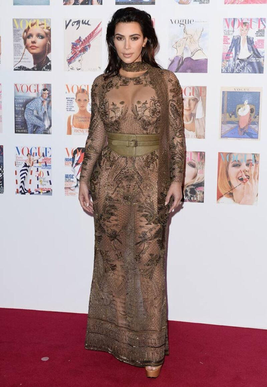 Así lució Kim Kardashian en un evento reciente en Londres.