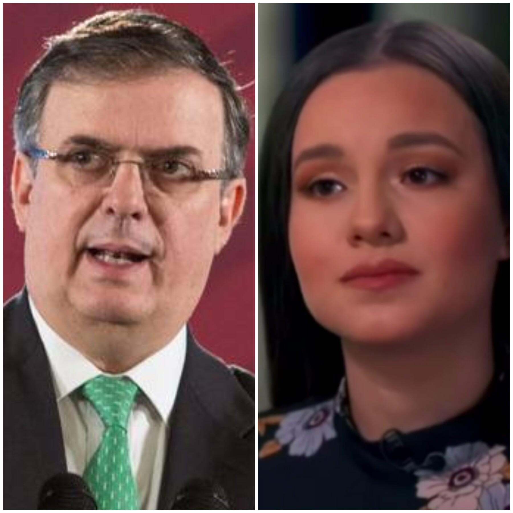 Marcelo Ebrard y Sara Salazar