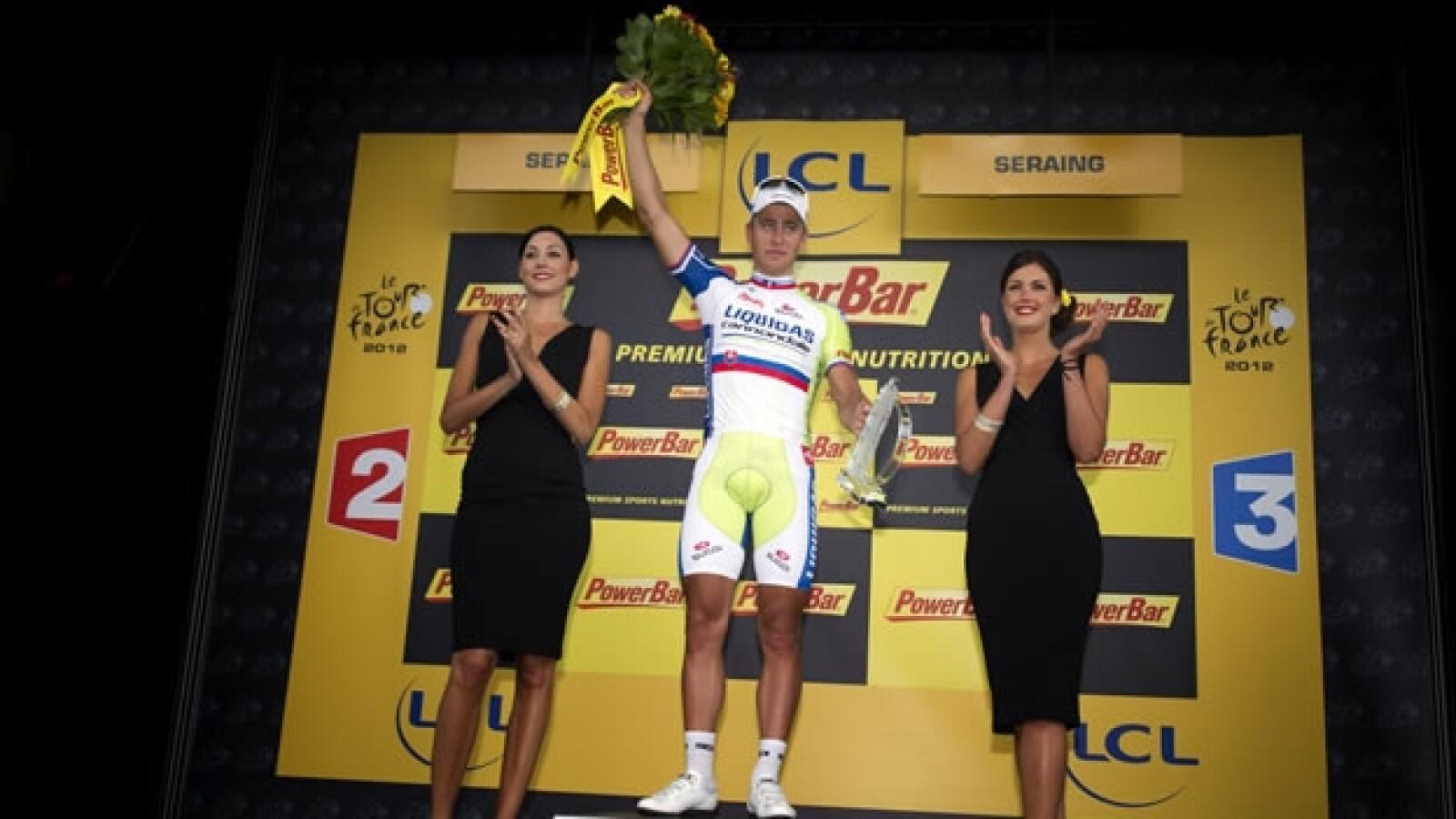 peter sagan celebra primer triunfo en la tour de francia
