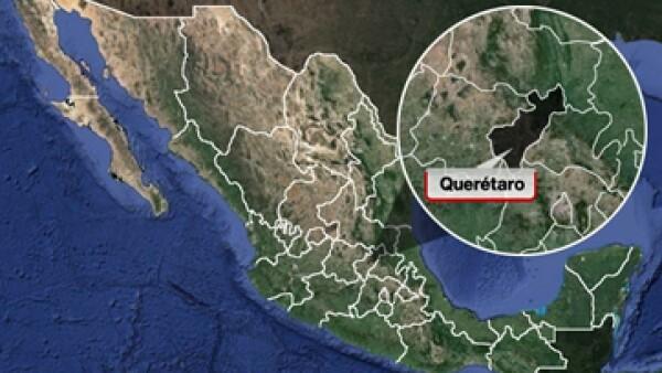 La explosión se registró en San Juan del Río, Querétaro. (Foto: Especial)