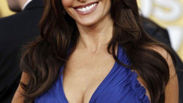 La noche del domingo la vimos en los premios SAG usando un vestido azul rey. Por cierto, su serie `Modern Family´ ganó como mejor comedia.