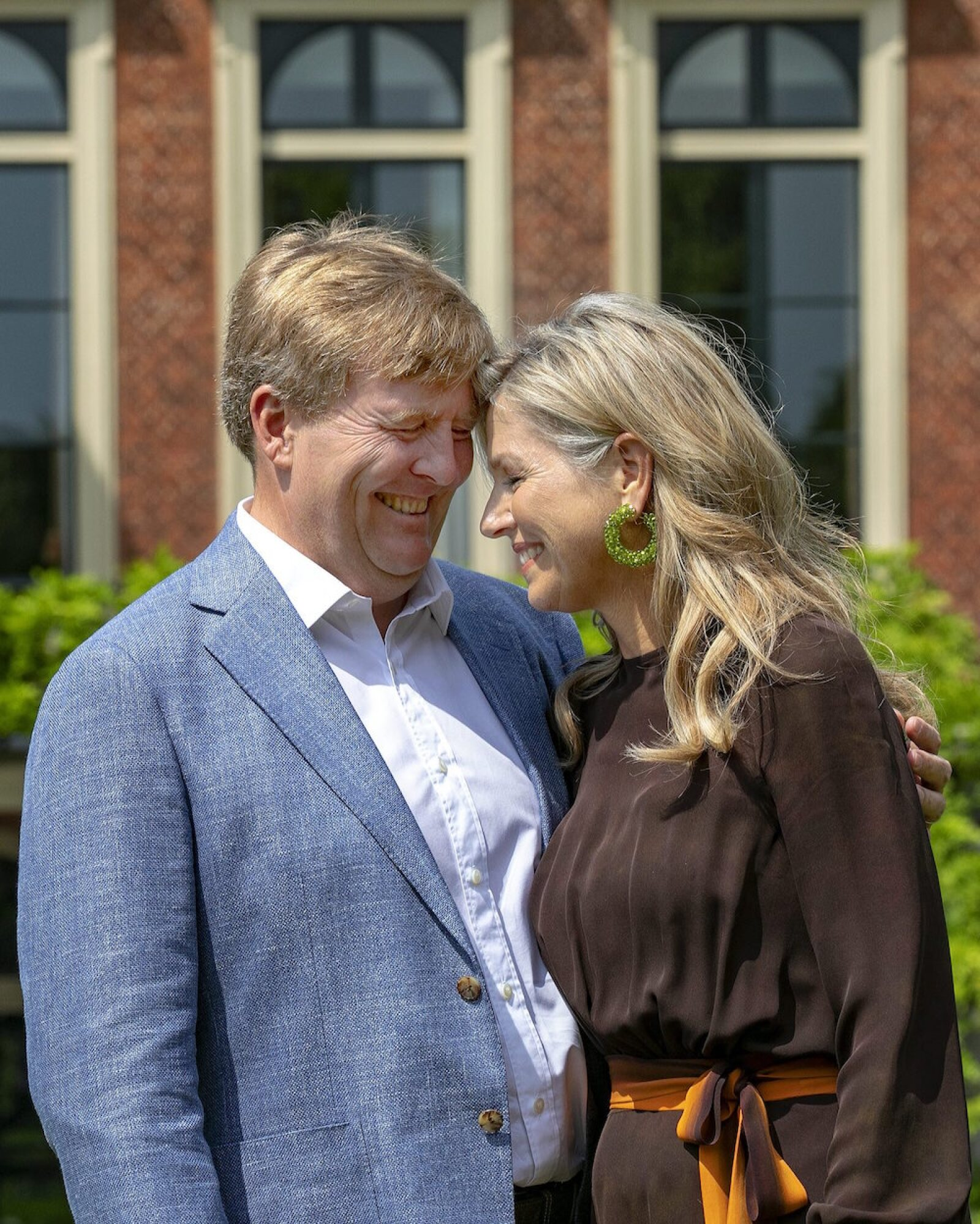 Dutch Royal Family pose for the media before their summer holidays