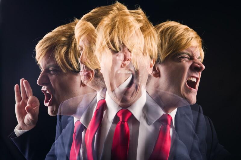 Trump gestos enojo furia