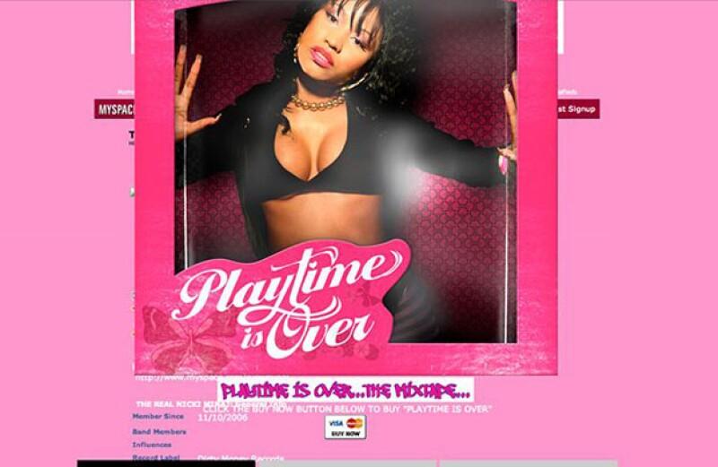 Nicki Minaj y su cuenta de MySpace-