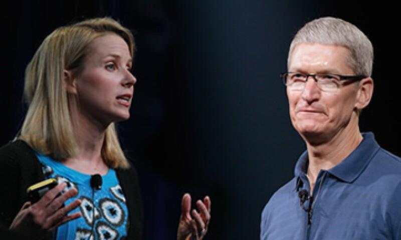 Los CEO de Yahoo y Apple, Marissa Mayer y Tim Cook, compitieron por el título del personaje del año que otorga Time desde hace 85 años. (Foto: Especial)