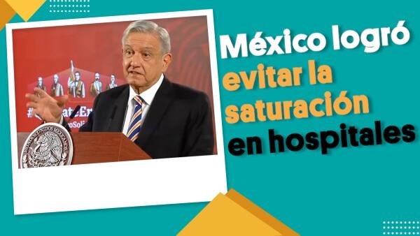 México logró evitar la saturación de los hospitales | #EnSegundos