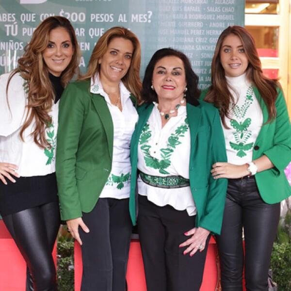 Mari Rouss Sandhú,Mónica Nales,Silvia de Rojo e Isabel Rojo