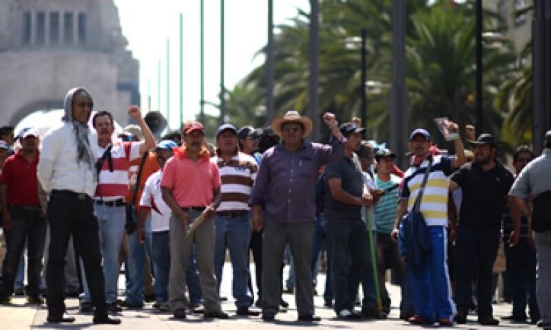 Las marchas del miércoles pasado dejaron pérdidas por 300 mdp, de acuerdo con los comerciantes. (Foto: Cuartoscuro)