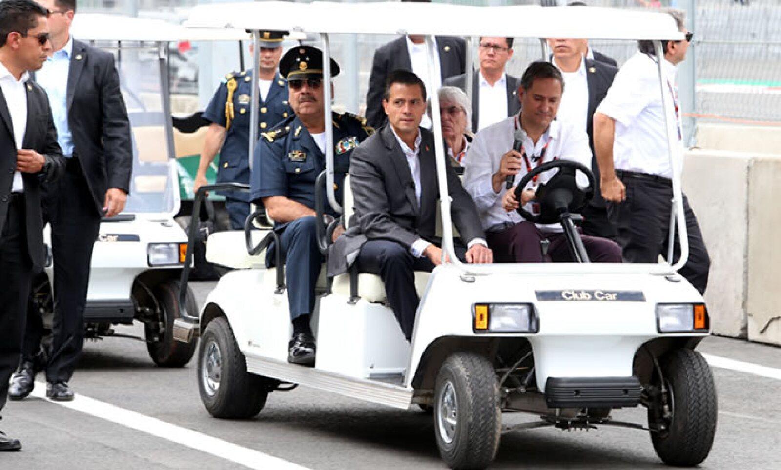 El presidente Enrique Peña Nieto acudió al Autódromo Hermanos Rodríguez a unos días de que se realice el evento de la Fórmula 1.