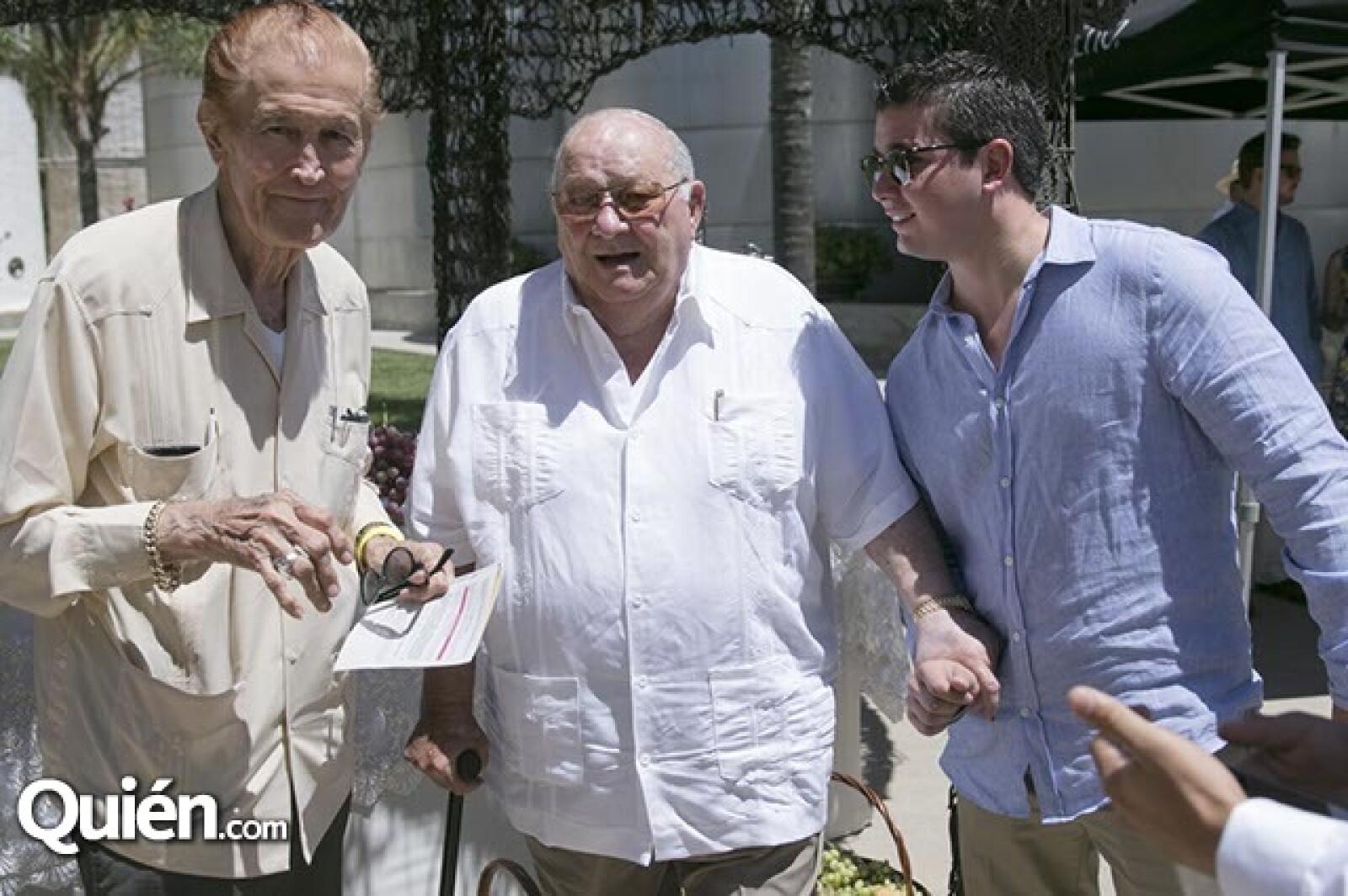Leopoldo Hoyos,Luis Cetto y Fernando Rodríguez