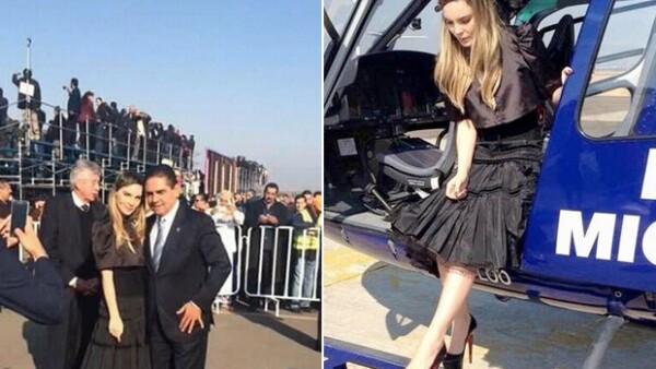 El secretario de Seguridad Pública de Michoacán informó que sancionará al piloto involucrado en el traslado de la cantante.