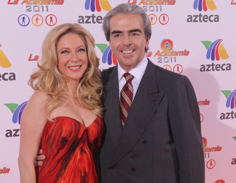 Edith González y Lorenzo Lazo mostraron su amor en la alfombra naranja.